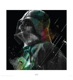 Star Wars Darth Vader Lines Art Print 40x40cm