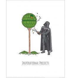 Star Wars Vader's Boredom Busting Ideas Inspirational Projects Art Print 30x40cm