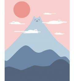 Cat Mountain Art Print 40x50cm