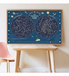 Poppik Heelal Glow in the Dark Sterren Poster 100x68cm