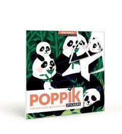 Poppik Wilde Dieren Sticker Kaarten 18x18cm