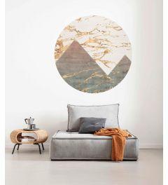 Precious Peaks Zelfklevende Behangcirkel ⌀125