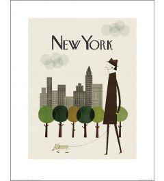 New York Poster 50x40cm