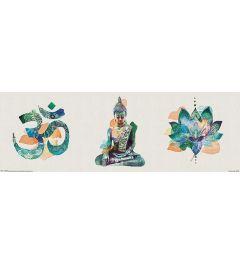 Summer Thornton Poster Yoga Triptych  30.5x91.5cm