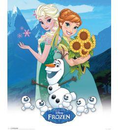 Frozen Anna, Elsa En Olaf Poster 40x50cm