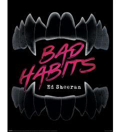Ed Sheeran Bad Habits Poster 40x50cm