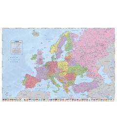 Politieke Kaart van Europa - Vlaggen