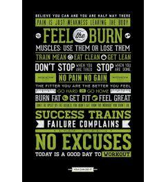 Gym Motivaties Poster 61x91.5cm
