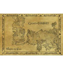 Game Of Thrones Antieke Kaart Poster 91.5x61cm
