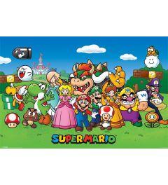 Super Mario Personages Poster 91.5x61cm
