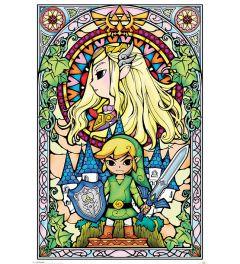 The Legend Of Zelda Glas In Lood Poster 61x91.5cm