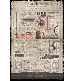 Game Of Thrones Informatie Poster 61x91.5cm