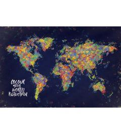 Wereldkaart - Colour your world beautiful