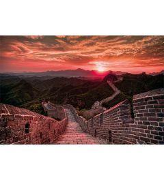 De Chinese muur met zonsondergang Poster 61x91.5cm