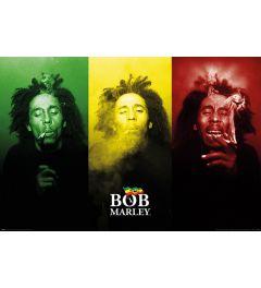 Bob Marley Tricolour Smoke Poster 61x91.5cm