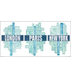 Londen, Parijs en New York