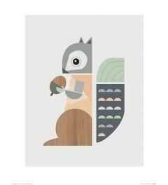 Eekhoorn Art Print Little Design Haus 40x50cm