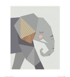 Olifant Art Print Little Design Haus 40x50cm