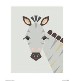 Zebra Art Print Little Design Haus 40x50cm