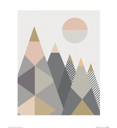 Geo Bergen I Art Print Little Design Haus 40x50cm