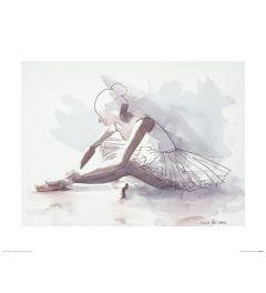 Ballet Het begin Art Print Aimee Del Valle 40x50cm