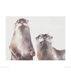 Twee Otters Art Print Aimee Del Valle 40x50cm