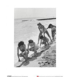 Modellen op het strand