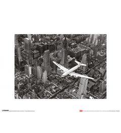 DC-4 over Manhattan