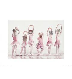 Ballet Vijfde positie Art Print Aimee Del Valle 30x40cm