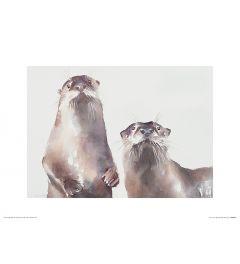 Twee Otters Art Print Aimee Del Valle 30x40cm