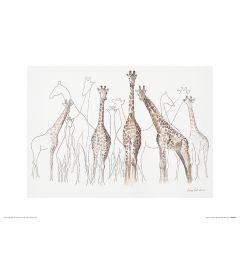 Giraffen Art Print Aimee Del Valle 30x40cm