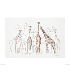 Giraffen Art Print Aimee Del Valle 60x80cm