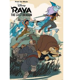 Raya and the Last Dragon Jumping Into Action Poster 61x91.5cm