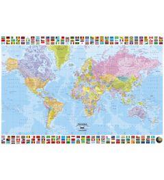 Wereldkaart - Politiek Engels