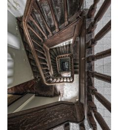 Urbex Staircase Kunstdruk