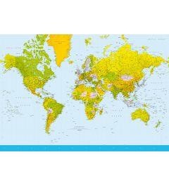 Kaart Van De Wereld 8-delig Fotobehang 366x254cm