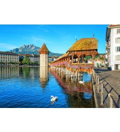 Luzern Zwitserland 8-delig Fotobehang 366x254cm