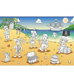 Piraten Op Het Strand Fotobehang 175x115